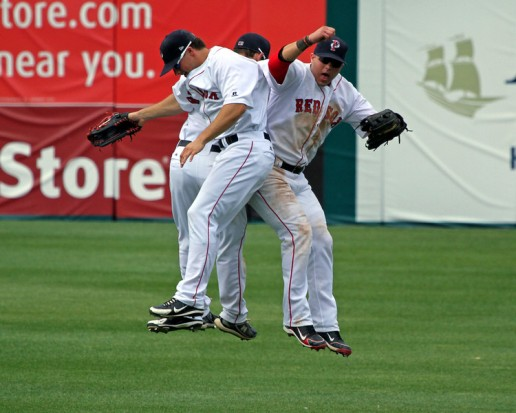 Outfielders celebrate.jpg