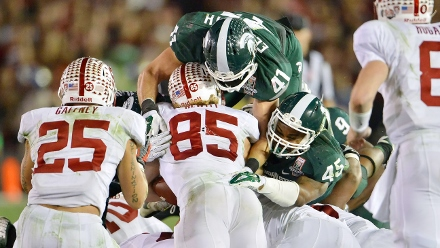 NCAA Football 2014: Rose Bowl Michigan State vs Stanford JAN 01