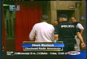 Chuck with police
